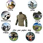 QCHENG Chemise de Combat Militaire Homme Airsoft Shirt Tenue Camouflage Uniforme Tactique Séchage Rapide à Manches… 13
