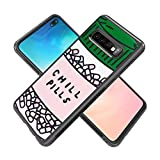 Chill Pills Samsung Galaxy S10 Plus Best Protective Slim Shockproof Glossy Soft Silicone Rubber Cover Phone Case for Samsung Galaxy S10 Plus