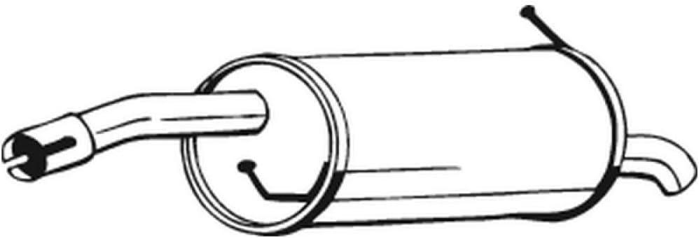 Bosal 154-447 Endschalld/ämpfer