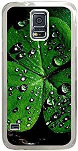 Chevron Retro Vintage Tribal Nebula Pattern Galaxy S5 Cases - Compatible With Samsung Galaxy S5 SV i9600 - Hard Shell Transparent Samsung Galaxy S5 SV i9600 Cover Cases Cute Water Drop On Leaf