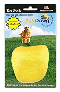 best Ruff Dawg Rock Dog Toy, Assorted Neon Colors