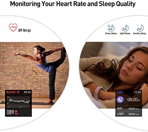 """Smart Watch, 1.4"""" Touch Screen Smartwatch,Fitness Tracker with Heart Rate Monitor, Sleep Monitor, Bluetooth Camera Music Control Smart Watch for Men Women 5"""