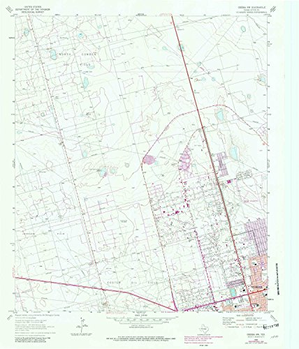 YellowMaps Odessa NW TX topo map, 1:24000 scale, 7.5 X 7.5 Minute, Historical, 1964, updated 1981, 26.9 x 23 IN - Paper