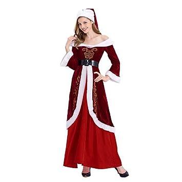 Mujer Navidad Disfraces Christmas Cuello Barco Palacio Falda ...