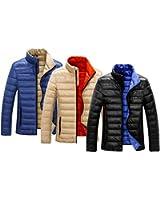 Soufflesong メンズ【 リバーシブル 軽量 ダウン ジャケット 】ライト ダウン カジュアル ジャケット ダウンコート ダウン 薄手 冬服 ブルゾン ジャケット はおりもの 防寒 S・M・L・XL・2XL 大きいサイズ