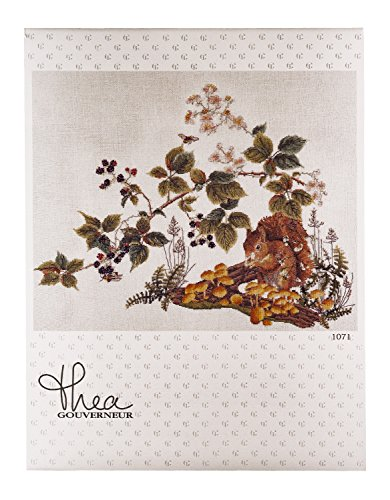 Thea Gouverneur 1071A Squirrel on 16 Count Aida, Counted Cross Stitch Kit, ()