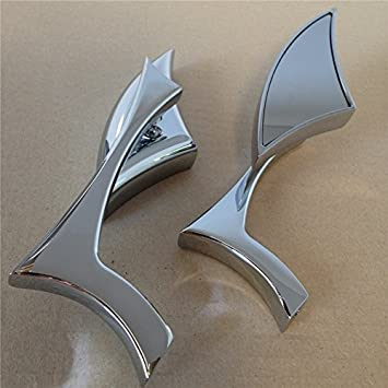 Motorcycle Chrome Spear Blade Mini Side Mirrors For Harley Davidson Sportster Dyna Softail