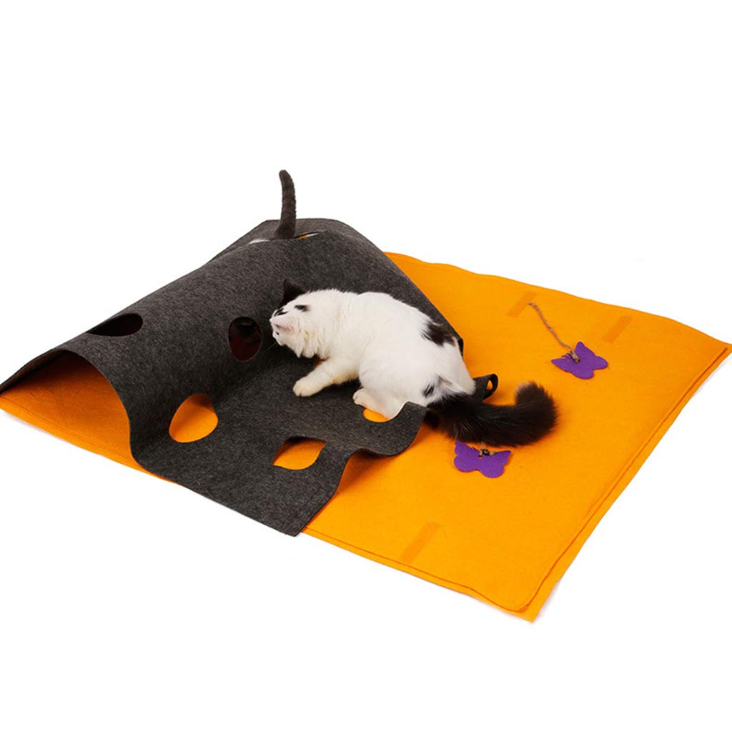QIQI Cat Puzzle Tunnel Toy Pet Supplies Cat Mat Multi-functional DIY Modeling Cat Play Blanket