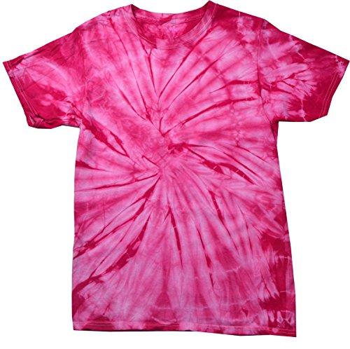 (Colortone Tie Dye Kids 6-8 (SM) Spider Pink)