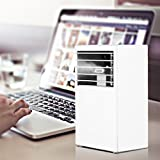 YOUDirect Mini Air Conditioner 9.5-inch - Small Noiseless Desktop Fan Mini Evaporative Air Cooler (White)