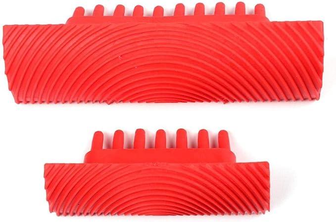 FOONEE Grano de Goma Goma de veta de Madera Herramienta de Bricolaje Color Rojo Herramienta para Pintar en la Pared