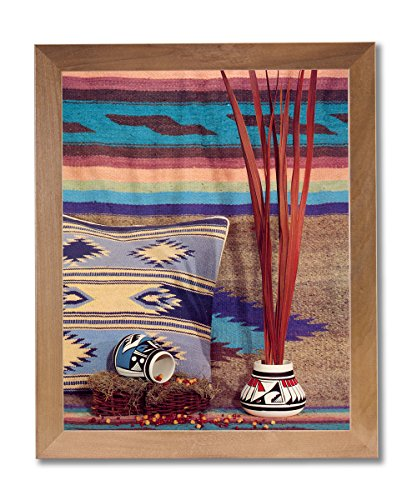 Native Pottery Indian (Southwestern Native Indian Pottery #2 Wall Picture Honey Framed Art Print)