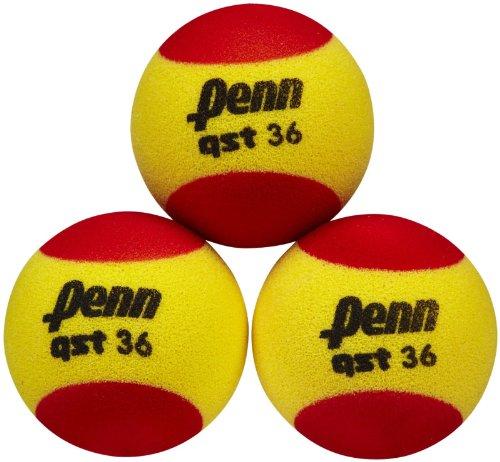 Penn QST 36 Foam Tennis Balls, 3 Ball Polybag