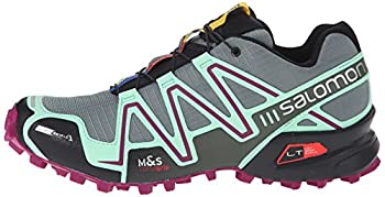 Salomon Women's Speedcross 3 Cs W Trail Running Shoe, Light Ttlucite Greenmystic Purple, 5 B Us 4