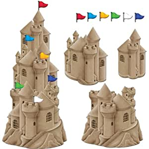 Stackable Sandcastle Cutouts (6 flag cutouts included)  (3/Pkg)