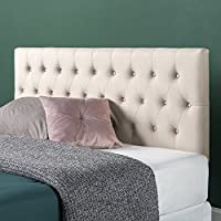 Zinus Upholstered Modern Classic Tufted Headboard in Taupe, Queen