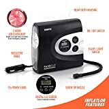 Tire Inflator - 12V Air Compressor Pump (2017 Model) - 150PSI - Portable And Easy To Use - Perfect For Car, Bike And Sporting Equipment By FamilyTool Automotive (150PSI V2)
