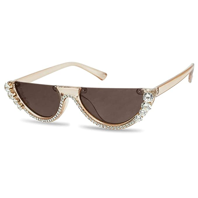 Amazon.com: SunglassUP - Gafas de sol de media luna (tamaño ...