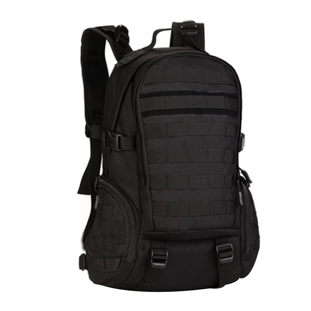 Fanova Waterproof Backpack Travel Bag Military Outdoor Shoulder Bag Sports Bag,35L (Black) by Fanova