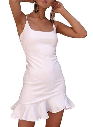 cercare molti alla moda fashion style Ajpguot Donna Estivi Mini Vestiti con Bottoni Elegante Abiti a Tubino Sexy  Senza Schienale Vestito da Partito Moda Corto Abito da Sera e Cerimonia