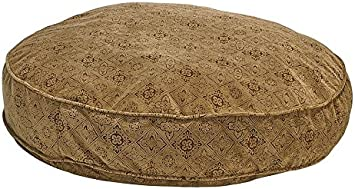Bowsers Super Soft Round Bed Pecan Filigree Small