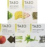 lotus energy drink - Tazo Green Tea Energizing 5 Flavor Variety Pack Sampler (Pack of 5, 100 Bags Total)