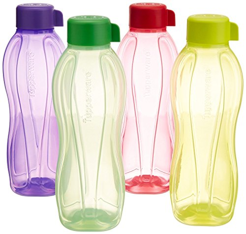 Tupperware Aquasafe Water Bottle Set, 1 Litre, Set of 4, Multicolor 2 Price & Reviews