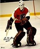 """Bernie Parent Philadelphia Flyers Autographed Mask Shot 16"""" x 20"""" Photograph with HOF 1984 Inscription - Fanatics Authentic Certified"""