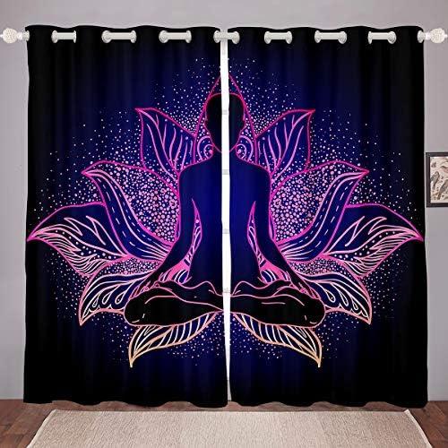 Deal of the week: Feelyou Chakra Windows Drapes Boho Mandala Room Decoration Zen Spiritual Curtains Bohemian Style Exotic Floral Print Window Curtains