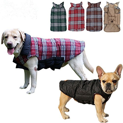 Female Vulcan Costumes (GIG Pet Dog Clothes Jacket Pug Vest Small Large Plaid Warm Coat 6 Size)