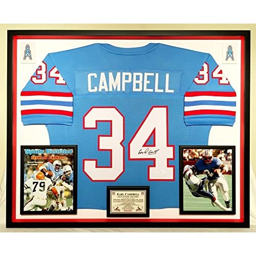 Premium Framed Earl Campbell Autographed Signed Autographed Signed Houston  Oilers Jersey JSA Coa 7b9bc6877
