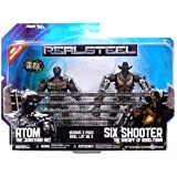 Real Steel Movie BASIC Action Figure 2Pack Atom Vs. Six Shooter by Jakks Pacific
