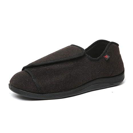 CXQWAN Herren Edema Schuhe, Hausschuhe, breite Passform