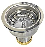 Coflex Deep Cup Fit All Sink Basket Strainer- Easy Press Basket with ball bearing closure-Chrome