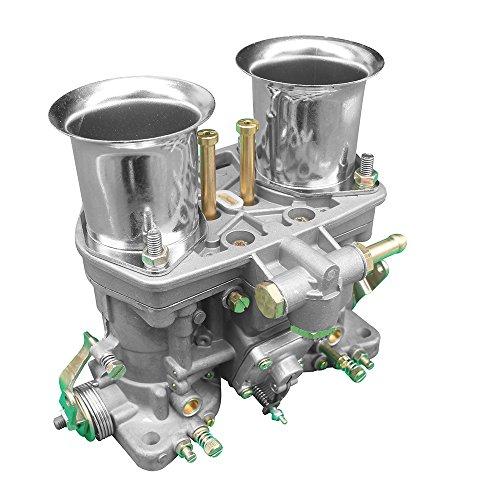 KIPA Carburetor for VW Volkswagen Beetle Super Beetle Transporter Jaguar Porsche 44 IDF Weber 2 BARREL 44mm Carb Carburetor with Air Horn OEM # 18990.035 18990.030