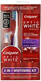Colgate Optic White Toothpaste and Whitening Pen 2-in-1 Teeth Whitening Kit