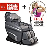 Zero Gravity Shiatsu Reclining Massage Chair. Osaki 7200-H with Computer Body Scan, 6 Massage Types, 5 Pressure Settings and 5 Depth Setting for Fully Customized Pain Relief and Relaxation (Charcoal)
