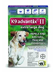 Bayer K9 Advantix II Flea, Tick and Mosquito Prevention for X...