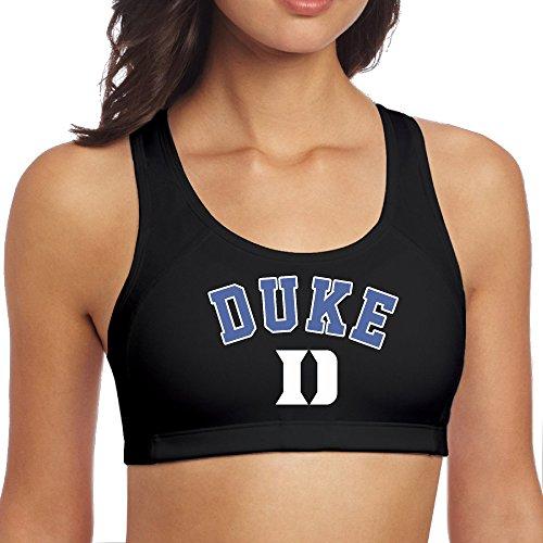 Women's Duke Blue Devils Start Of Season Perfomance Racerback Yoga Sports Bra Black