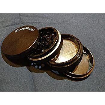 "Sharpstone® 2.5"" Solid Top 4 Piece Grinder (Black)"