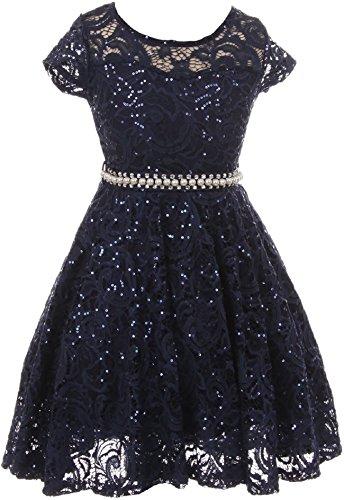 junior bridesmaid dresses in navy - 1