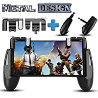 PUBG Fortnite Mobile Game Controller – [New Version] SEMSA Cell Phone Gaming Joystick Accessories, Gamepad, L1R1 Sensitive Shoot and Aim Triggers Fire Buttons for iOS Android (2 Trigger and Game pad)