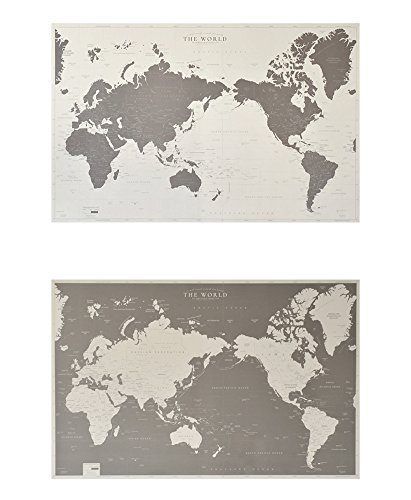 World map Set 2 , Recycled paper (ivory + (09 Map)