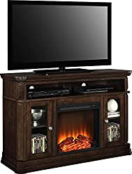 "Ameriwood Home Brooklyn Electric Fireplace TV Console for TVs up to 50"", Espresso from Dorel Home Furnishings"