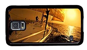 Hipster indestructible Samsung Galaxy S5 Cases sailing sunset hd PC Black for Samsung S5