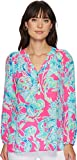 Lilly Pulitzer Women's Elsa Top Raz Berry Lobsters in Love Small