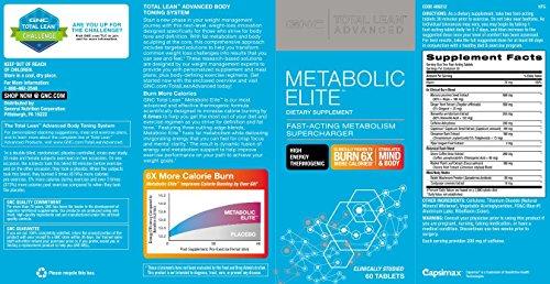 GNC Total Lean Advanced Metabolic Elite 60 Tablets