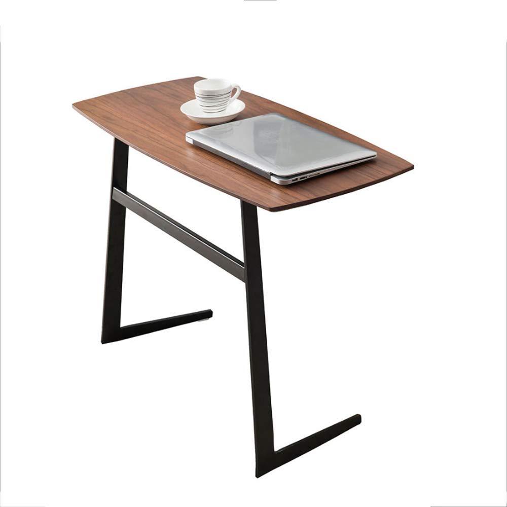 HAIZHEN パソコンデスク 錬鉄製コーヒーテーブルソリッドウッドカウンタートップソファーサイドテーブルミニデスク、80 * 38 * 59cm サイドテーブル B07NY2G77Y