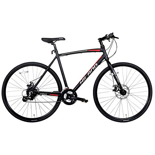 Hiland Road Hybrid Bike Urban City Commuter Bicycle with Disc