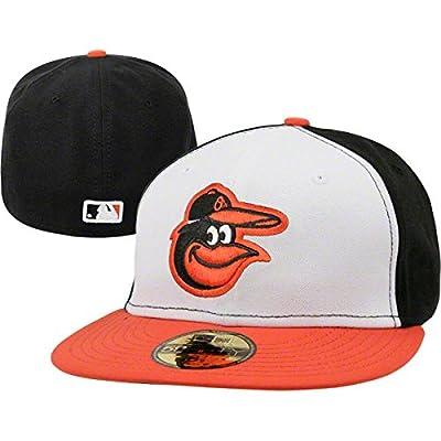 New Era 59FIFTY Baltimore Orioles Team Home Baseball Hat White/Black/Orange